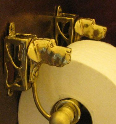 GREAT DANE, Natural Ears, Toilet Paper Holder OR Paper Towel Holder!