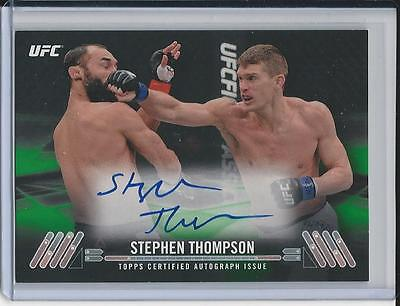 2017 Stephen Thompson UFC Knockout AUTO #d 07/35 Green Parallel topps