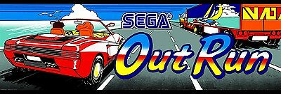 Sega Outrun Arcade Game Marquee on lexan