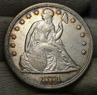 1871 $1 Liberty Seated Dollar - Nice Coin, Free Shipping (6301)