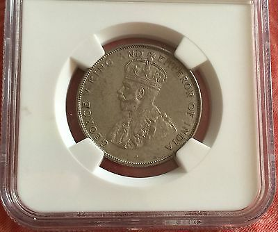 Straits Settlements 1920 with Dot George V 50 cents coin NGC AU50 Ex-Pridmore