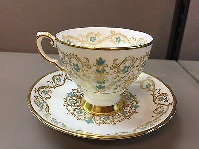 Footed Cup & Saucer Set in Louise by Tuscan - Royal Tuscan Fine Bone China