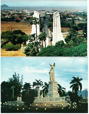 Nicaragua Managua FDR and Dario Monument Lot of 2 Lancia Airline Postcards 1960s