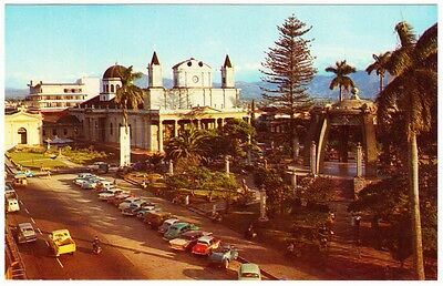 Costa Rica San Jose Metropolitan Church and 1950s-1960s Cars Postcard