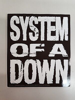 1 New X Official System Of A Down Vinyl Sticker **pyramid Posters**