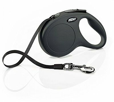 BEST Dogs Leads Leash Classic Retractable Dog Lead Tape, Large, 5m, Black NEW