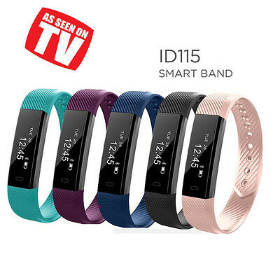 ID115 Smart Watch Pedometer Tracker Fitness Wristband Bluetooth 4.0 IOS Android