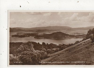 The Islands Loch Lomond From Camstradden Hill Vintage RP Postcard 711a