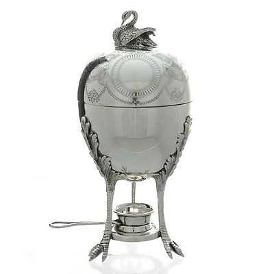 Silver Plated Egg Warmer Coddler Server by Mappin & Webb England Circa 1930