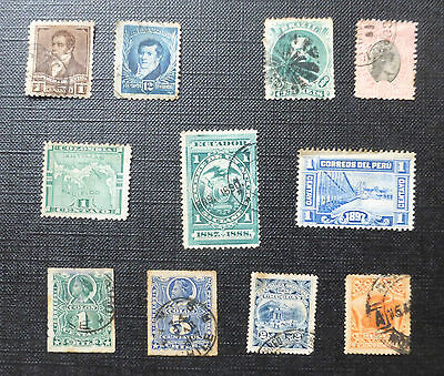 11 x EARLY STAMPS FROM SOUTH AMERICA