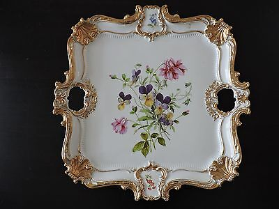 19th Century Meissen (Germany) porcelain serving tray