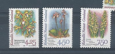 Greenland 1996 Arctic Orchids (2nd series) set of 3