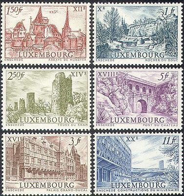 Luxembourg 1963 Palace/Abbey/Castle/Towers/Buildings/StampEx 6v set (n42749)