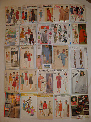 Lot 25 Vintage Sewing Patterns - As Found - Used