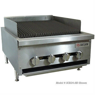 """Aurora (Ecb-24) Commercial Gas Charbroiler, Medium Duy, 24"""" Wide"""