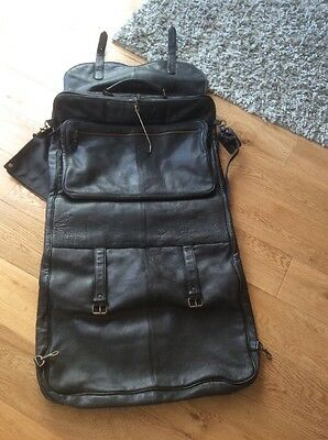 Genuine Leather Suit Carrier Garment Cover
