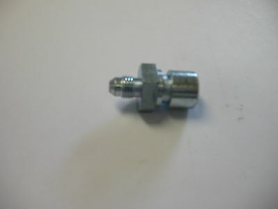 """#3AN male to 3/8-24  3/16"""" Steel Brake Line Fitting"""