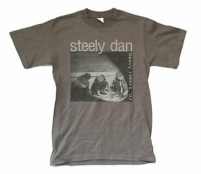 Steely Dan Heavy Rollers Tour 2007 Grey T-Shirt Small New Official Nos