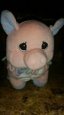 Circus Birthday Train Pig 3 Years Precious Moments Tender Tails Plush 1999 #s1