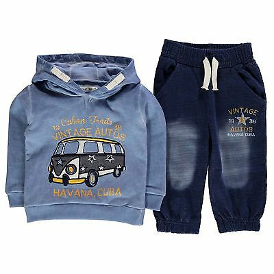Crafted Kids 2 Piece Tracksuit Boys Trousers Pants Cotton Long Sleeve Hooded Top