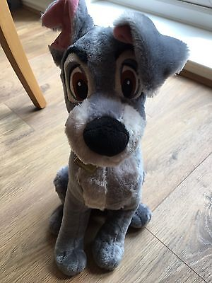 Tramp Large Disney Teddy Soft Toy Plush Lady And The Tramp Dog Exclusive Stamped