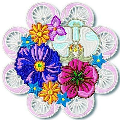 Fancy Floral 10 Machine Embroidery Designs Cd 3 Sizes Included
