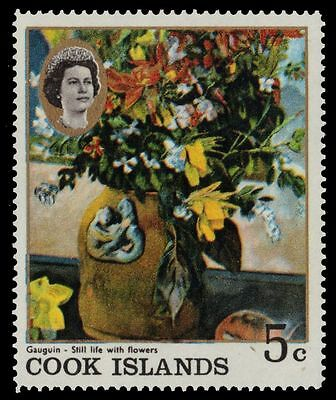 """COOK ISLANDS 223 (SG251) - """"Still Life with Flowers"""" by Paul Gaugin (pf94042)"""