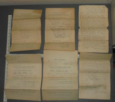 Vintage DAR Daughters of the American Revolution & Holland Dames application lot