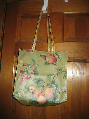 Nordic House Designs Tote Purse Shopping Bag Handle Multi Coated Cotton USA