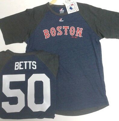 quality design de7fb 300c6 MOOKIE BETTS BOSTON Red Sox Youth Jersey Shirt Majestic Pick Size New W Tags