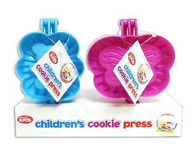 Cookie Cutter Press Bear Butterfly Kids Cooking Baking Kitchen Home Blue Pink