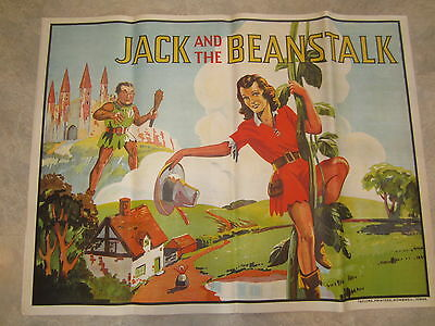 Original Old Vintage 1930's - JACK and the BEANSTALK- THEATRE Show POSTER