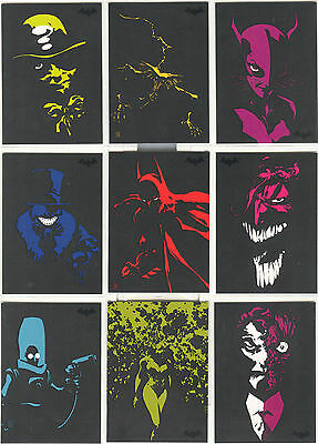 "Batman Archives - ""Dark Victory Glow In The Dark"" Set of 9 Chase Cards #DV1-9"