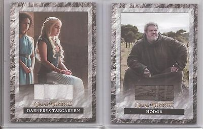 "Game of Thrones Season 6 - S6R1 ""Daenerys"" & S6R2 ""Hodor"" Relic Card Set of 2"