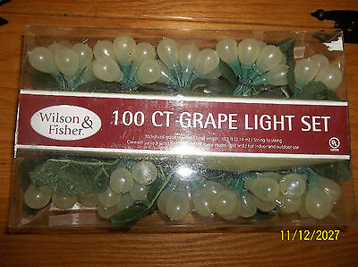 100 Count Grape Light Set (New) Wilson & Fisher White Grapes