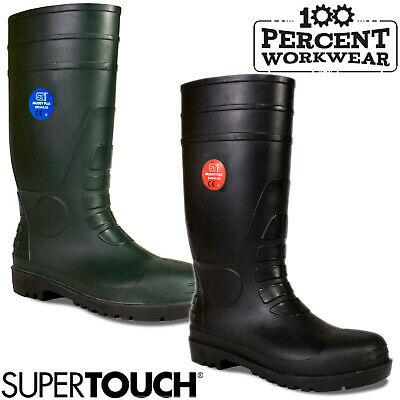 Heavy Duty Farmers Agriculture Builders Tradesman Wellington Boots Wellies Steel