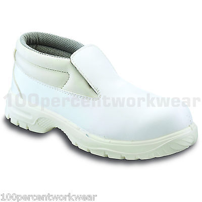 PSF W522 WHITE Hygiene Safety Work Slip On Boots Steel Toe Cap Lightweight SRC