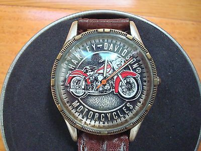 """Harley-Davidson Motorcycles """"panhead Pride"""" Timepiece Oil Can Wrist Watch"""