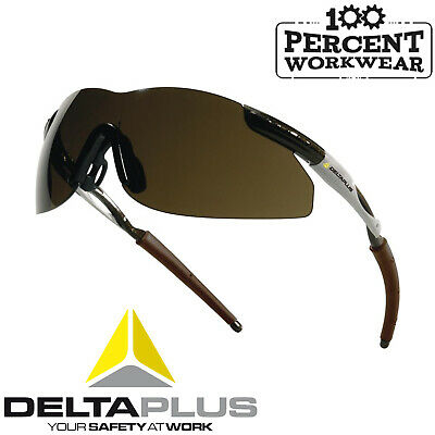 9dcac367393 10x Delta Plus THUNDER SMOKE Lens Safety Glasses Specs Spectacles Eye  Protection