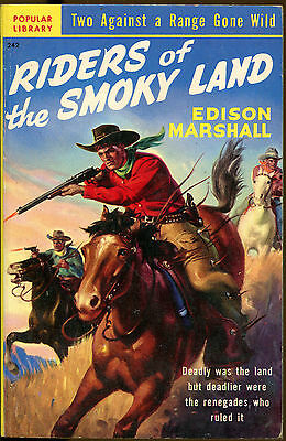 Riders of the Smoky Land-Edison Marshall-Vintage Popular Library Western PB-1950
