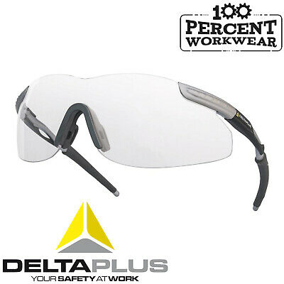 14f3830012e 10 x Delta Plus THUNDER CLEAR Safety Specs Glasses Spectacles Eye  Protection PPE