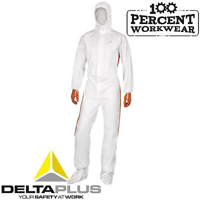 Delta Plus DT125 Polypropylene SMS Overalls Coveralls Protective Suit Breathable
