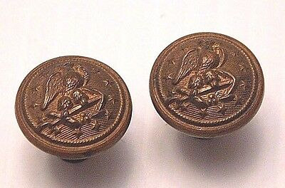 Pair Of United States Navy Shoulder Board Buttons (B148)