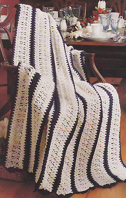 Crochet Pattern ~ CRYSTAL LACE AFGHAN ~ Instructions
