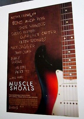 Muscle Shoals 2013 Poster Bono Alicia Keys Gregg Allman Keith Richards Jaeger