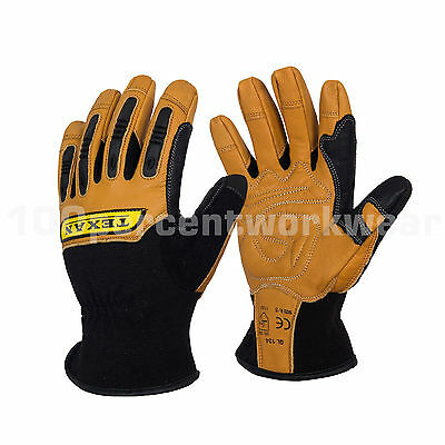 Texan Reinforced Leather General Handling Work Safety Gloves Rigger Warm Lined