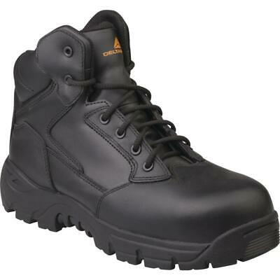 Delta Plus MARINES Black Leather Safety Work Boots Non Metallic S3 HRO SRC New