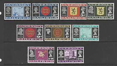 Guernsey 1969 thin paper values ( not complete ) 9 vals UM as shown