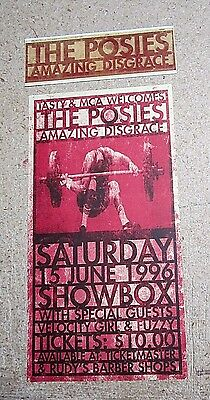 Posies Lot Promo Sticker and Amazing Disgrace 1996 Showbox Concert Poster