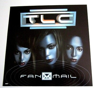 TLC Fan Mail 1999 Original 2 sided Promo Album Flat Poster R&B Soul LaFace